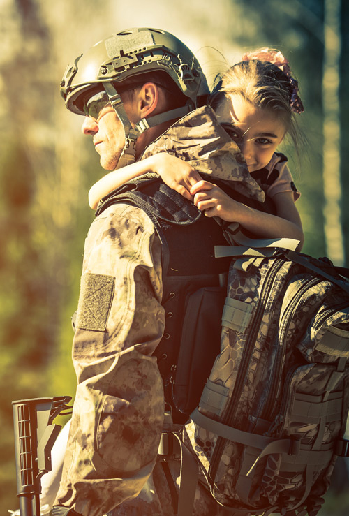 SOLIDER AND CHILD